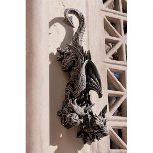 魔除け インテリア 2頭 ガーゴイル 彫刻 置物 壁掛け ウォールデコレーション acomes