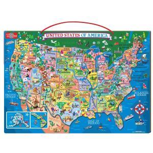 パズル マグネットパズル USAマップ アメリカの地図 知育玩具 T.S.Shure社製 おもちゃ プレイセット|acomes