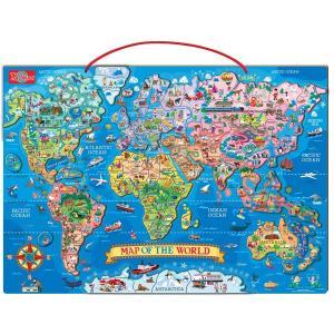 パズル マグネットパズル 世界地図 知育玩具 T.S.Shure社製 おもちゃ プレイセット|acomes