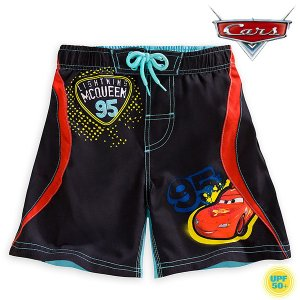 カーズ3 ライトニング マックィーン 水着 短パン トランクス 子供 男の子用 ディズニー UV効果|acomes