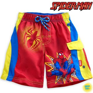 スパイダーマン 水着 短パン トランクス 子供 男の子用 ディズニー マーベル UV効果|acomes