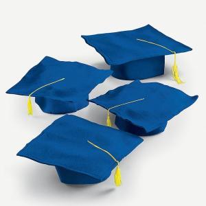卒業式 スーツ ハロウィン 卒業 博士 セレモニー 帽子 角帽 青 12セット グラデュエーション タッセル付き ブルー 記念 劇 発表会|acomes