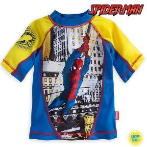 スパイダーマン ラッシュガード 水着 子供 男の子用 ディズニー UV水着 マーベル|acomes