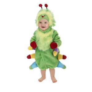 赤ちゃん 着ぐるみ コスチューム 子供 幼児 コスプレ ベビー 服 ロンパー ハロウィン 仮装 出産祝い プレゼント 緑 いも虫 キャタピラ|acomes