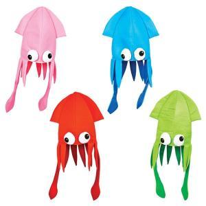 イカ ハット 子供用 かわいい おとぼけ いか 帽子 ハロウィン 海 シリーズ コスプレ パーティー 夏 カラフル acomes