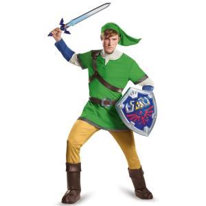 ゼルダの伝説 リンク 大人用 デラックス コスチューム ハロウィン コスプレ パーティー 緑 テレビゲーム|acomes