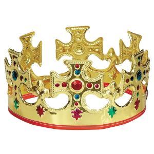 王冠 コスプレ かぶりもの 大人 子供 王様 仮装 変装 男女兼用 穴あき式 acomes