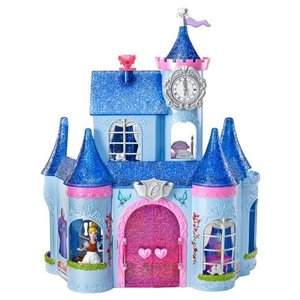 シンデレラ おもちゃ シンデレラ城 ドールハウス マジッククリップ 模型 フィギュア 人形 ディズニー きせかえ人形|acomes