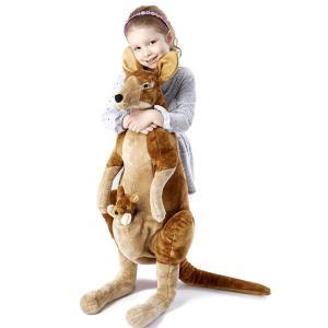 動物 癒し ぬいぐるみ Melissa & Doug メリッサ&ダグ カンガルー おかかさんカンガルーと赤ちゃんジョーイ 知育玩具|acomes