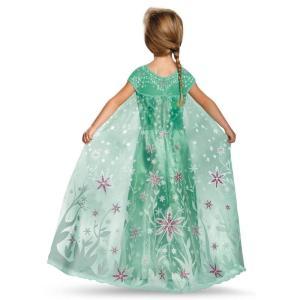 アナと雪の女王 エルサのサプライズ ドレス 子供 女の子用 コスチューム ディズニー プリンセス ハロウィン 仮装 コスプレ|acomes|02