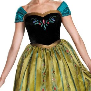 アナと雪の女王 ドレス 大きいサイズ 大人 女性用 コスチューム 戴冠式 ディズニー プリンセス ハロウィン 仮装 コスプレ|acomes|02
