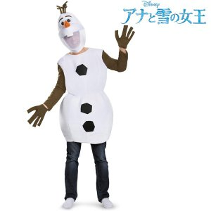 アナと雪の女王 オラフ 大人用 コスチューム 着ぐるみ 雪だるま ディズニー ハロウィン 仮装 コスプレ|acomes