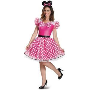 ディズニー ピンク ミニーマウス コスチューム 大人用 ハロウィン コスプレ 衣装 グッズ|acomes