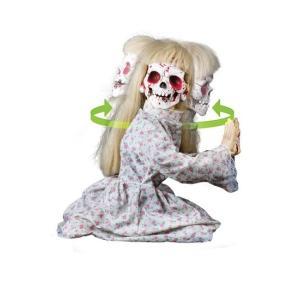 恐怖 少女 人形 動く ハロウィン 装飾 デコレーション 不気味 怖い 狂気 お化け 屋敷 acomes