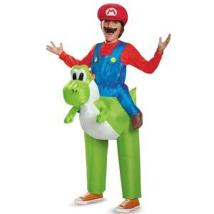 コスプレ 子供 衣装 男の子 人気 スーパーマリオブラザーズ コスチューム 着ぐるみ  ヨッシー セット 仮装 きぐるみ  キャラクター 子ども キッ テレビゲーム|acomes