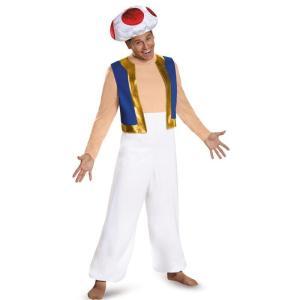スーパーマリオブラザーズ コスプレ 衣装 キノピオ コスチューム 大人 男性用 任天堂 キャラクター テレビゲーム|acomes