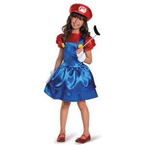 マリオ 子供 女の子用 ハロウィン コスチューム スーパーマリオブラザーズ コスプレ  テレビゲーム|acomes