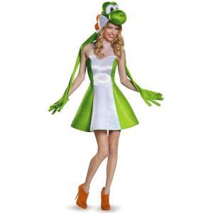 ヨッシー 着ぐるみ スーパーマリオ コスチューム コスプレ 仮装 きぐるみ  キャラクター 大人 女性用 テレビゲーム|acomes