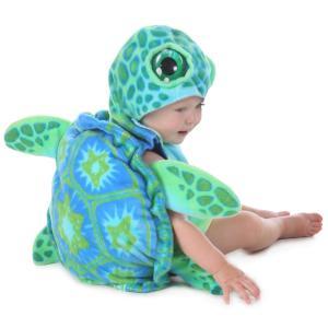赤ちゃん 着ぐるみ コスチューム 亀 ウミガメ 海亀 かめ 幼児 ベビー 服 コスプレ 衣装 動物|acomes