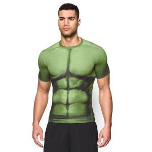 アンダーアーマー 大人 ハルク アベンジャーズ キャラクター プリント シャツ コンプレッション スポーツ トレーニング メンズ ウェア Tシャツ 機能性インナー|acomes