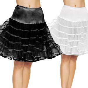ペチコート 大人用 ホワイト ブラック スカート ふわふわ パーティー ハロウィン コスプレ ひらひら ドレス 50'|acomes