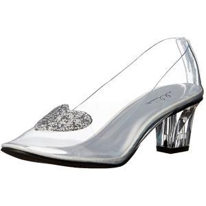 シンデレラ ガラスの靴  クリア パンプス 大人 女性用 ディズニー ハロウィン コスプレ 仮装|acomes