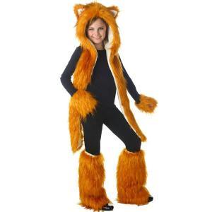キツネ 狐 フォックス ぬいぐるみ  コスプレセット フェイクファー 着ぐるみ ティーン用 大人用 ハロウィン 動物 アニマル コスチューム 衣装 グッズ acomes