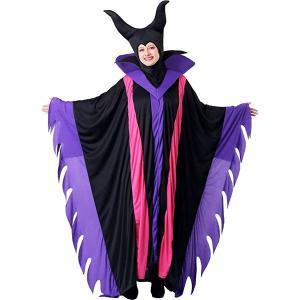 マレフィセント ヴィランズ 魔法使い 大人 女性用 コスチューム ハロウィン コスプレ パーティー 魔女 眠れる森の美女 ディズニー|acomes