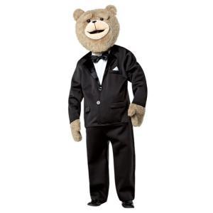 ハロウィン TED テッド 着ぐるみ ぬいぐるみ風 大人 コスチューム コスプレ タキシード 衣装 マスコット 動物 くま 映画 キャラクター|acomes