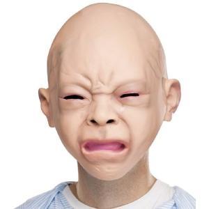 赤ちゃんマスク 大人用 ガキ使 笑ってはいけない 仮装 変装 被り物 リアル赤ちゃん 泣き顔マスク|acomes
