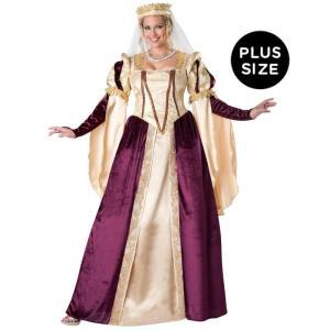 ハロウィン 中世 ルネッサンス プリンセス 大人用 大きい サイズ ドレス コスチューム 衣装|acomes