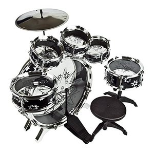 ドラムセット ドラムキット 子供 11ピース 楽器 パーカッション 打楽器 音楽 ロック おもちゃ 知育玩具 クリスマス プレゼント ギフト|acomes|02