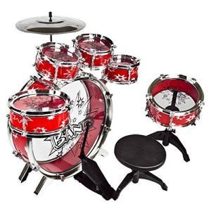 ドラムセット ドラムキット 子供 11ピース 楽器 パーカッション 打楽器 音楽 ロック おもちゃ 知育玩具 クリスマス プレゼント ギフト|acomes|03