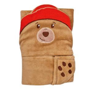 幼児 子供 赤ちゃん ベビー 毛布 ブランケット おくるみ シーツ パディントン パディントンベア 着ぐるみ風 くま クマ 動物 映画 キャラクター|acomes