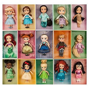 ディズニー キャラクター 人形 フィギュア セット アニメーターズコレクション 15体 ディズニープリンセス Disney 子供 おもちゃ クリスマス プレゼント ギフト acomes