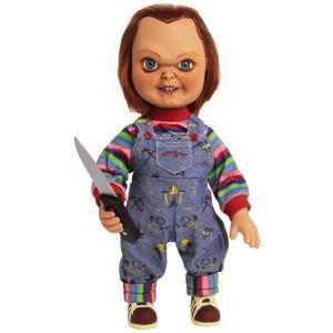 ホラー映画チャイルド・プレイの殺人人形チャッキーのトーキングフィギュア・しゃべる人形です。 こちらの...