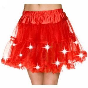 ダンス 衣装 チュチュスカート 赤 ネオン 電飾 光る コスプレ 80's 80年代 ディスコ クラブ レイブ EDM フェス 目立つ 派手 大人 女性 パーティ コスチューム|acomes
