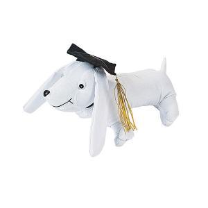 色紙への寄せ書きも嬉しい記念の一つですが、約28cmの大きさのかわいい卒業犬のぬいぐるみへの寄せ書き...