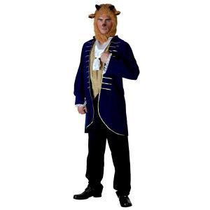 美女と野獣 ビースト アダム 大人用 男性用 コスチューム ディズニー ハロウィン コスプレ 衣装 グッズ|acomes