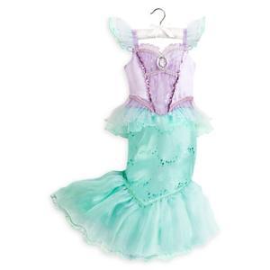 ディズニー コスプレ 子供 コスチューム 人気 リトルマーメイド アリエル 衣装 ドレス Disney 人魚姫 仮装 服|acomes