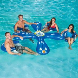 プール 家庭用 浮かぶ ドリンクバー 浮き輪 アクア フロート プール 水遊び 氷 冷やす うきわ 飲み物 パーティー インスタ映え ナイトプール 海水浴 グッズ|acomes