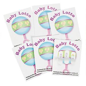 ベビーシャワーや出産お祝いのパーティーにぴったり!この商品は、赤ちゃんのガラガラのイラストが描かれた...