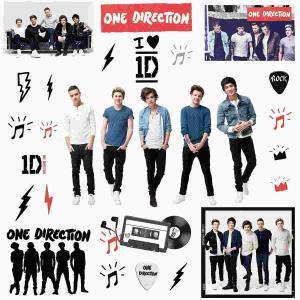 ワンダイレクション One Direction 1D グッズ ウォールステッカー シール 壁紙 インテリア 室内装飾 デコレーション|acomes