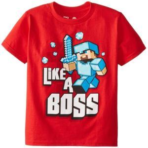 コスプレ 子供 衣装 男の子 人気 マイクラ Like A Boss レッド Tシャツ ティーン用 マインクラフト ハロウィン ゲーム イベント ダイヤモンド 防具 ギフト|acomes