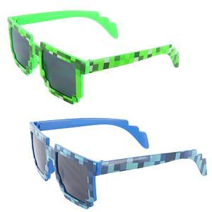 おもしろサングラス 8ビット モザイク 眼鏡 マインクラフト パーティ レイブ 目立つ 派手 グッズ|acomes|02
