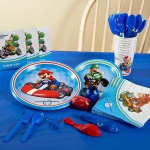 マリオカート 任天堂 Wii ベーシック パーティーパック 8人用 使い捨て 食器 紙コップ 紙皿 ...