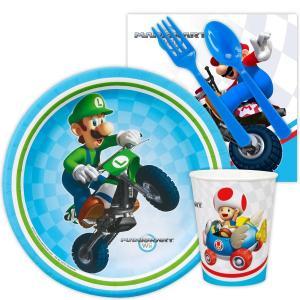 マリオカート 任天堂 Wii スナックパーティー おやつ パーティーパック 8人用 使い捨て 食器 ...