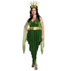 メデューサ メドゥーサ 大人 女性用 大きい サイズ コスチューム ハロウィン コスプレ ギリシャ 神話 イベント パーティー タイタンの戦い|acomes