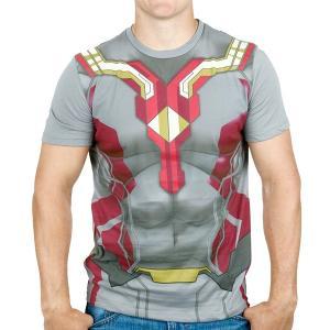 アベンジャーズ エイジ・オブ・ウルトロン ヴィジョン メンズ 男性用 半袖 Tシャツ キャラクター スーパーヒーロー アメコミ マーベル グッズ ハロウィン|acomes