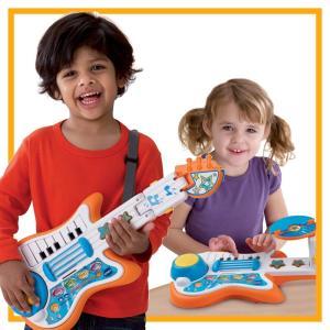 ギター ピアノ ドラム おもちゃ 子供 幼児 楽器 3通りで使えるミュージックトイ 音楽 教育 学習 グッズ|acomes